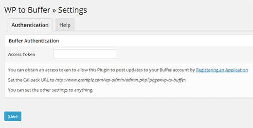 WP to Buffer Settings