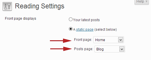 Setting a blog page in WordPress