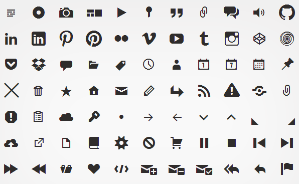 Genericons a GPL Licensed open source icon font set