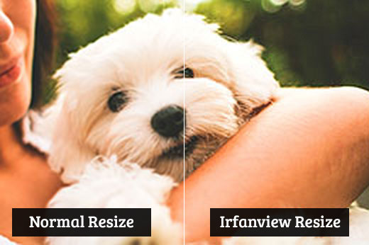 Comparing normal resize vs irfanview resize