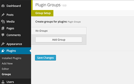 Add new plugin group