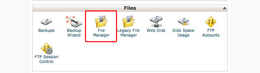 File Manager icon in cPanel