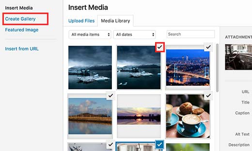 Create a basic image gallery in WordPress
