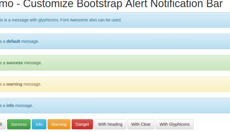 Boostrap Alert Notification