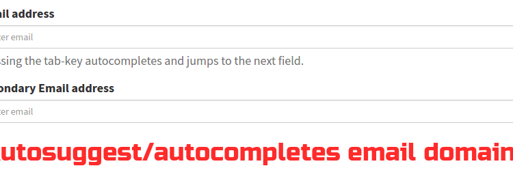 email autosuggest sutocomplete