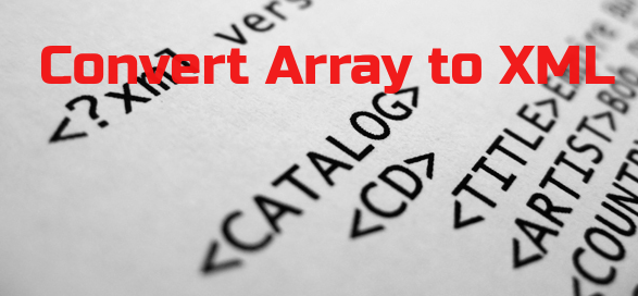array to XML using PHP