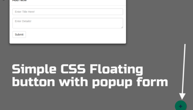 Responsive CSS Floating button