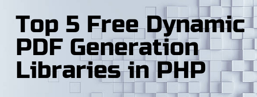 PDF Generation Libraries