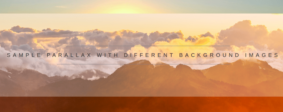 CSS Parallax Scrolling Effect With Smooth Scrolling and Back To Top