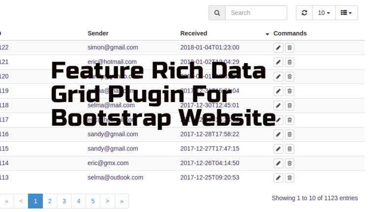Data Grid Plugin For Bootstrap