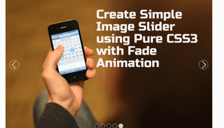Simple Image Slider using Pure CSS3