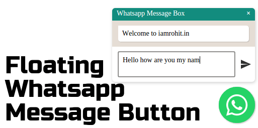 Add Floating Whatsapp Message