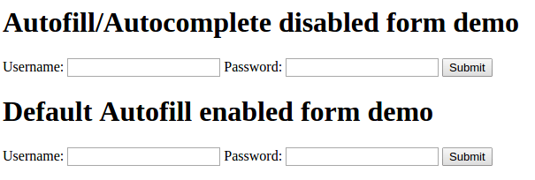 Autocomplete in Chrome