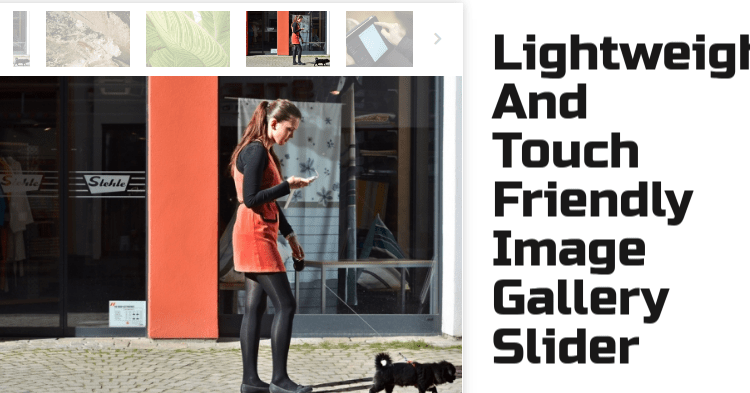 Lightweight and touch-friendly image gallery-slider