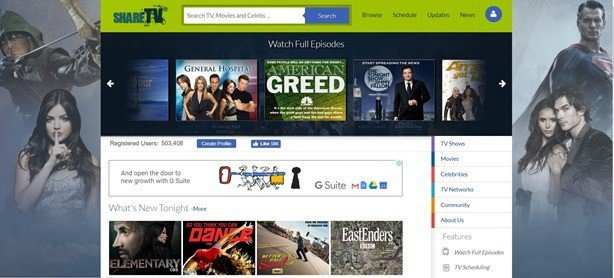 Sharetv movies, shows online free