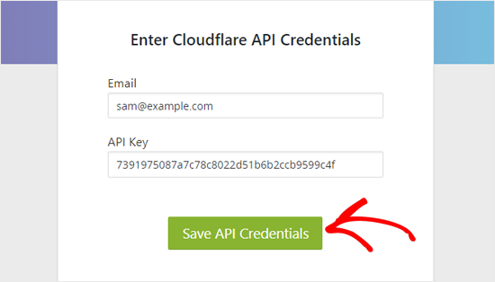 Save Cloudflare API Credentials in WordPress