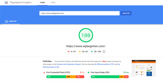 Latest Blog Google Page Speed Test