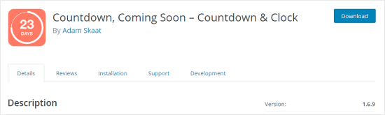 The Countdown Builder plugin page