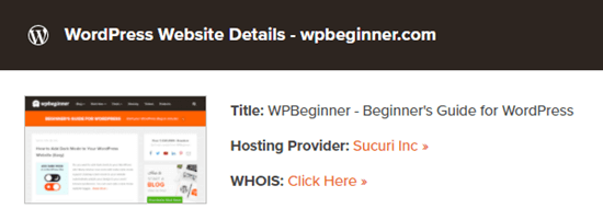 The theme detector tool lists Sucuri as the host for Latest Blog